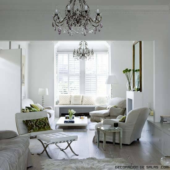 salones elegantes con contrastes