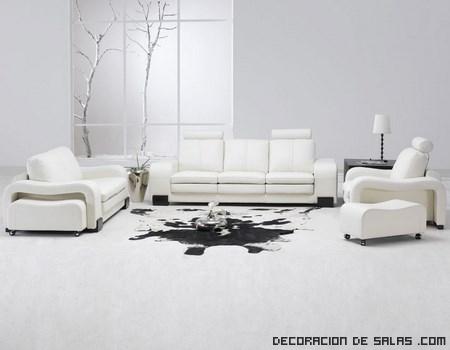 salones minimalistas en color blanco