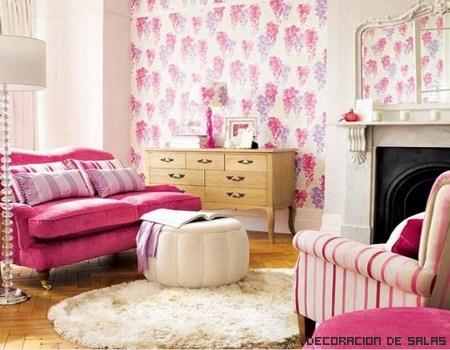 ¿Te atreverías a decorar un salón de rosa?