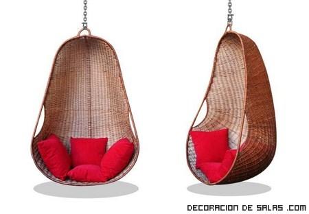 Decora tu rinc n favorito con una silla colgante - Sillas colgantes del techo ...