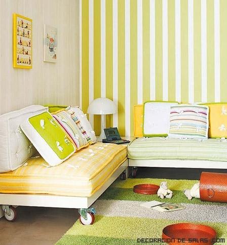 Camas juveniles con ruedas for Sofa cama juvenil