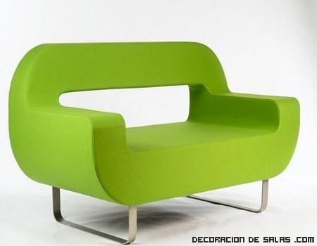 Un sof minimalista en color verde for Sofa minimalista