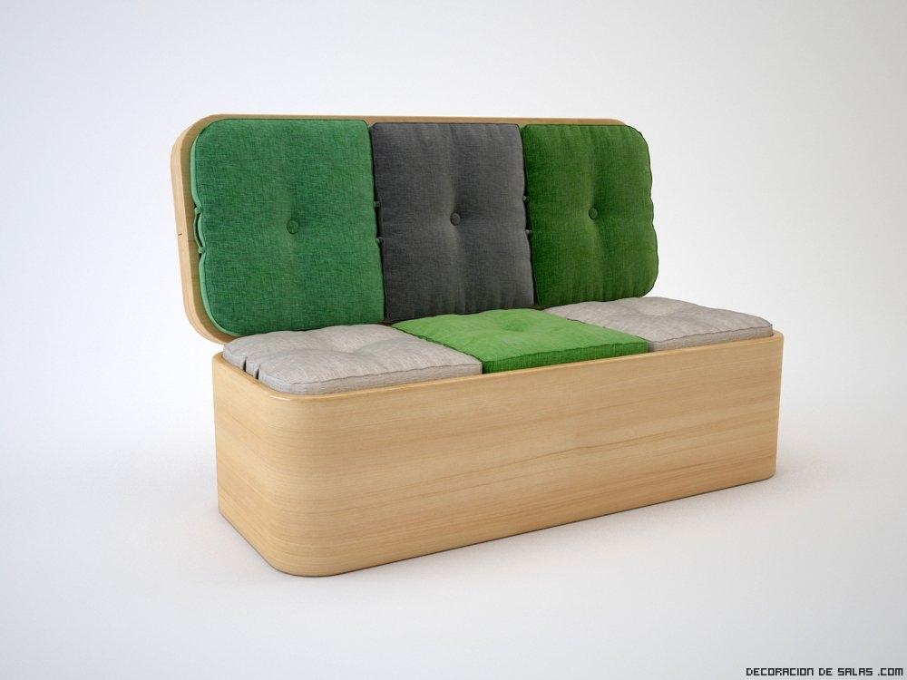 Sof que se convierte en mesa for Mueble que se convierte en mesa