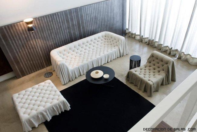 sofás elegantes para salones pequeños