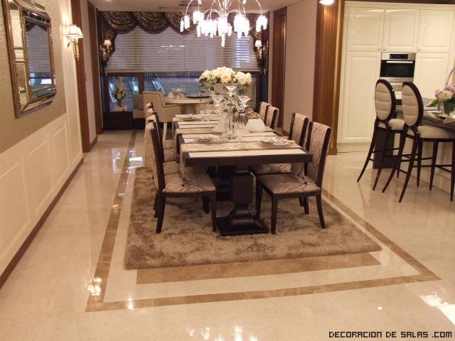 suelos elegantes de mármol