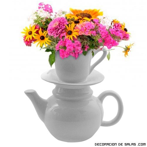 Ideas originales para colocar flores