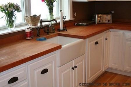 Encimeras de madera para tu cocina - Encimeras rusticas ...