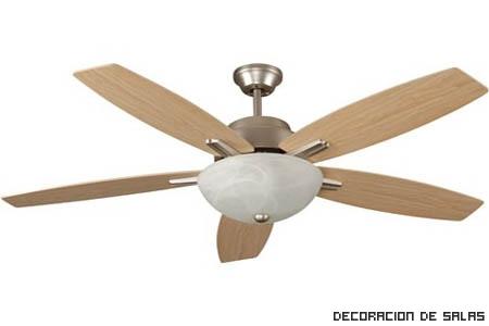 Ventiladores de techo para el calor - Ventiladores de techo de madera ...