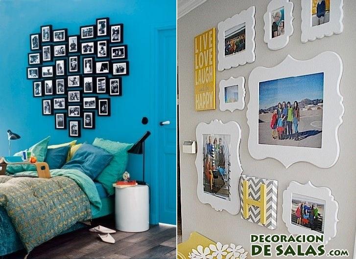 adornar paredes con cuadros familiares
