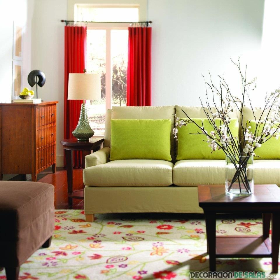 alfombra estampada floral