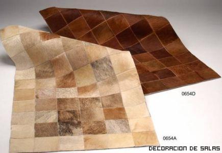 Alfombras de piel materiales de construcci n para la for Alfombras de cuero
