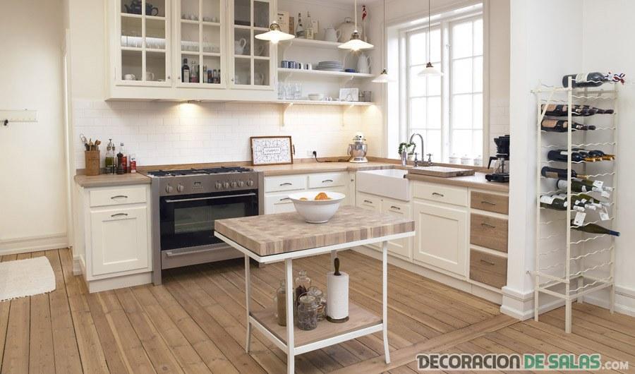almacenamiento cocina escandinava