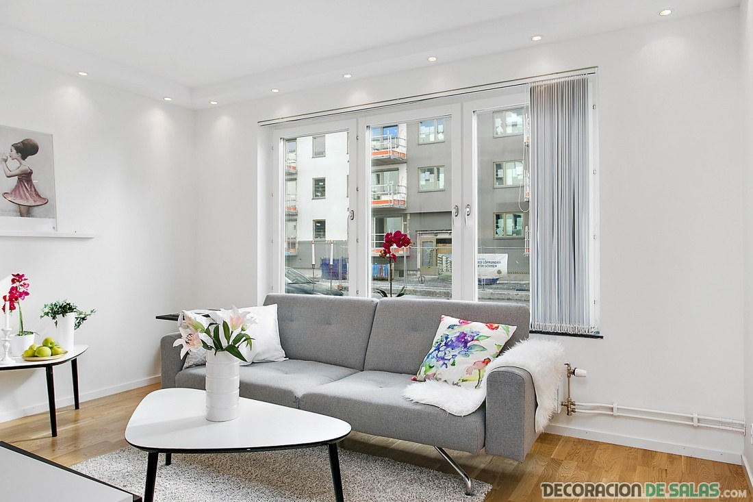 apartamento blanco y gris