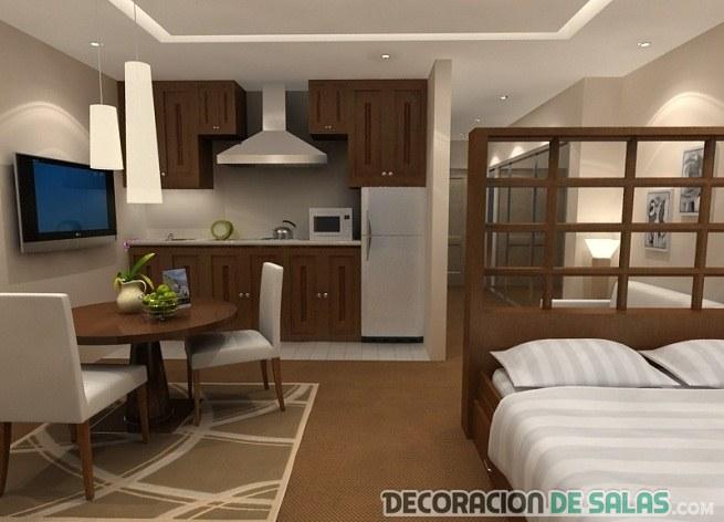 apartamento pequeño con cama
