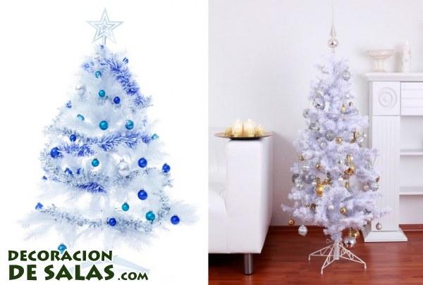 Rboles de navidad en color blanco - Arbol de navidad en blanco ...