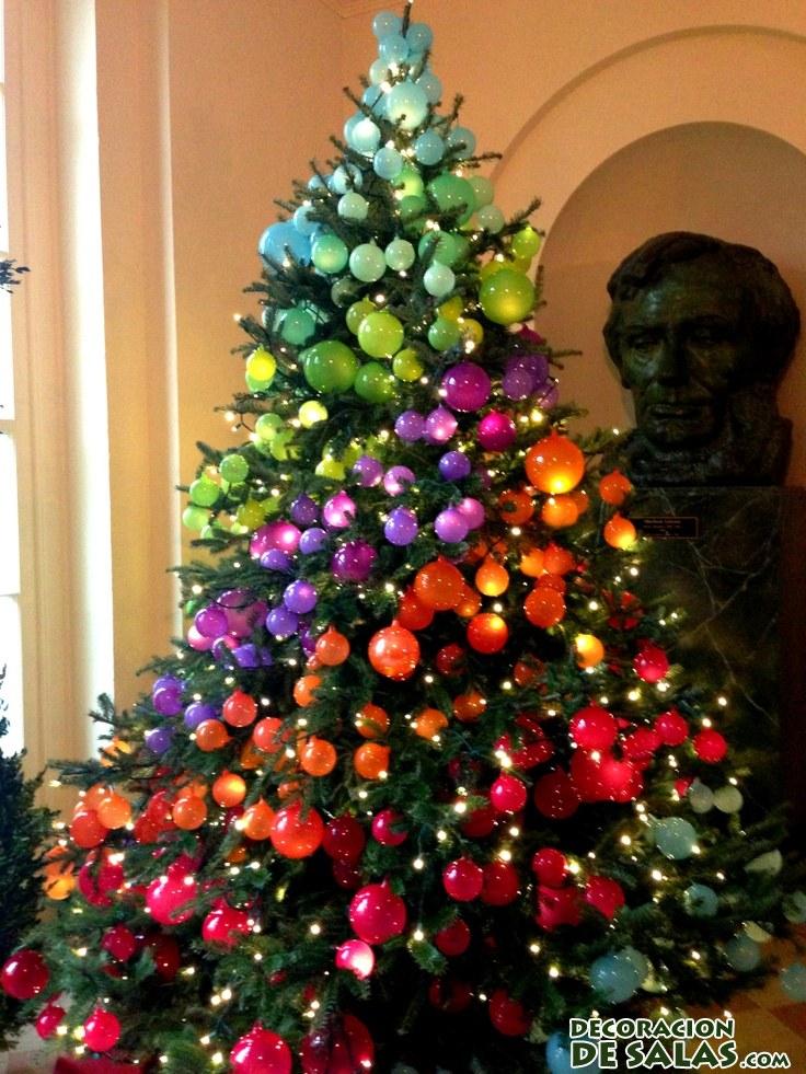 árbol de navidad con efecto degradado