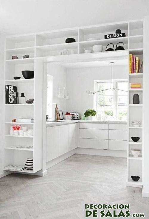S cale provecho a los arcos del hogar - Cocinas en blanco ...