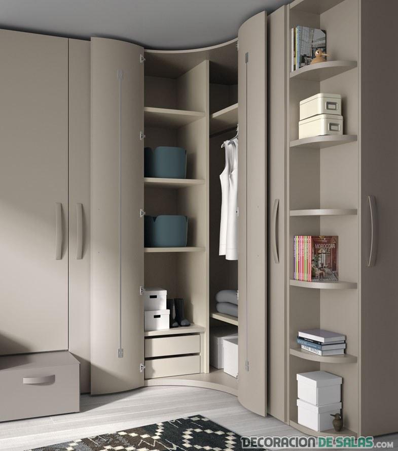 armario marrón rinconera  moderno