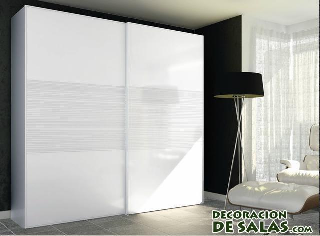 Armarios modernos - Armario dormitorio blanco ...