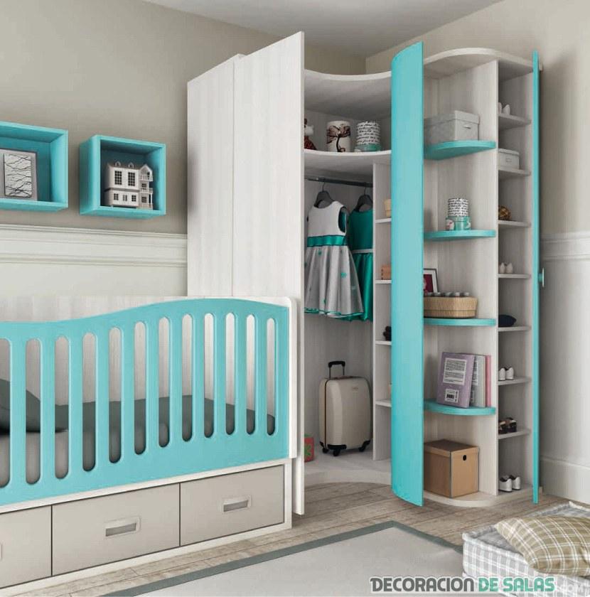 Interiores de armarios rinconeros for Armarios modernos baratos