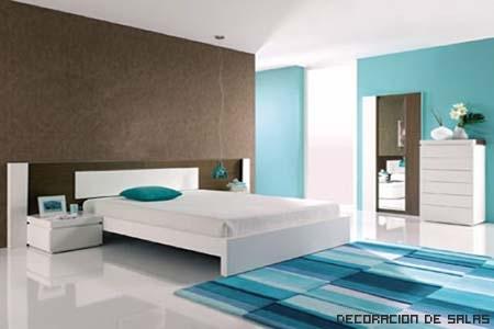 Un azul para cada estancia for Habitacion azul turquesa