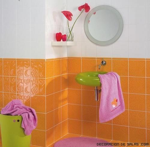Azulejos Baño Juvenil:Baños con azulejos pintados