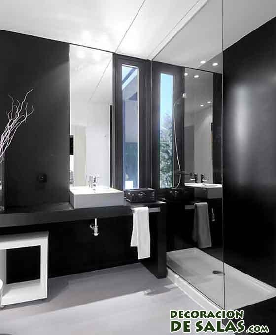Color negro para ba os - Banos blanco y negro ...