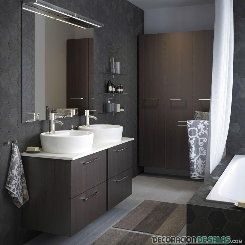 baño grande decoracion wengue