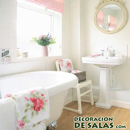Decoracion Baño Romantico:Ideas para decorar un baño romántico