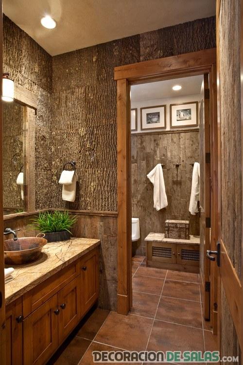 Ba os r sticos peque os un estilo perfecto en tu hogar for Banos decoracion rustica