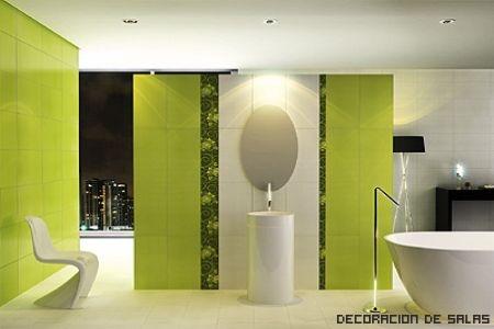 baño verde funcional