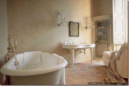 baño vintage funcional