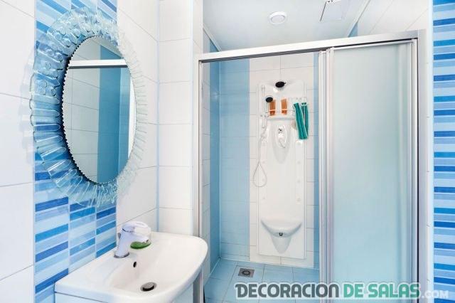Azulejos Baño Color Azul:Decorando baños en color azul