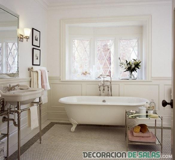 baños con bañera vintage