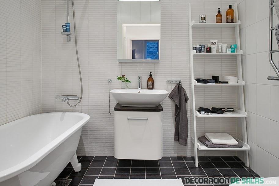 Un apartamento de estilo n rdico - Banos con estilo ...