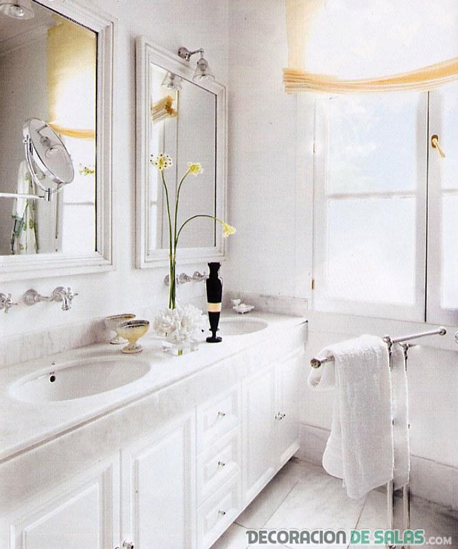 La pureza en los ba os minimalistas - Banos blancos ...