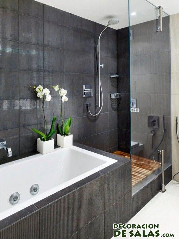 Ideas para decorar tus ba os en blanco y negro - Bano de color negro ...
