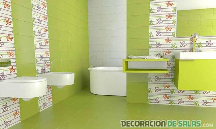 Azulejos Baño Seguro:Ideas de baños juveniles a todo color