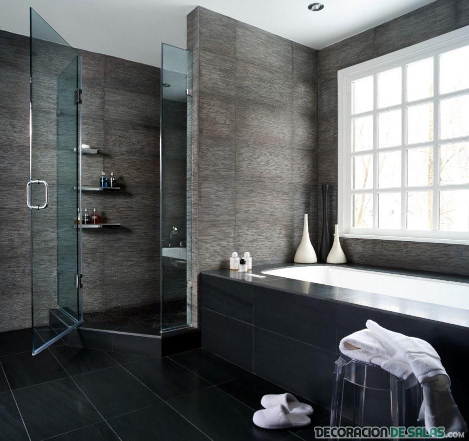 baños sin cortinas de ducha
