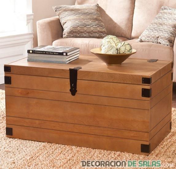baúl de madera para almacenamiento