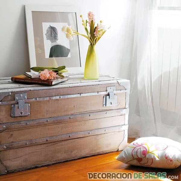baúles para decorar rincones del hogar