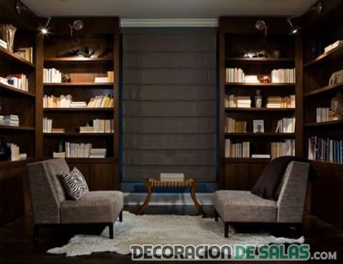 biblioteca en casa pequeña