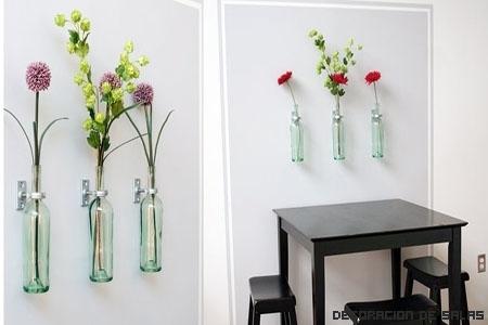 Coloca botellas en la pared
