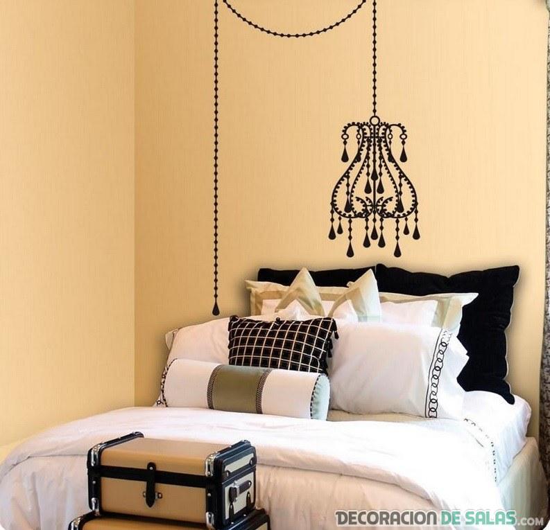 cabecero dormitorio con vinilo