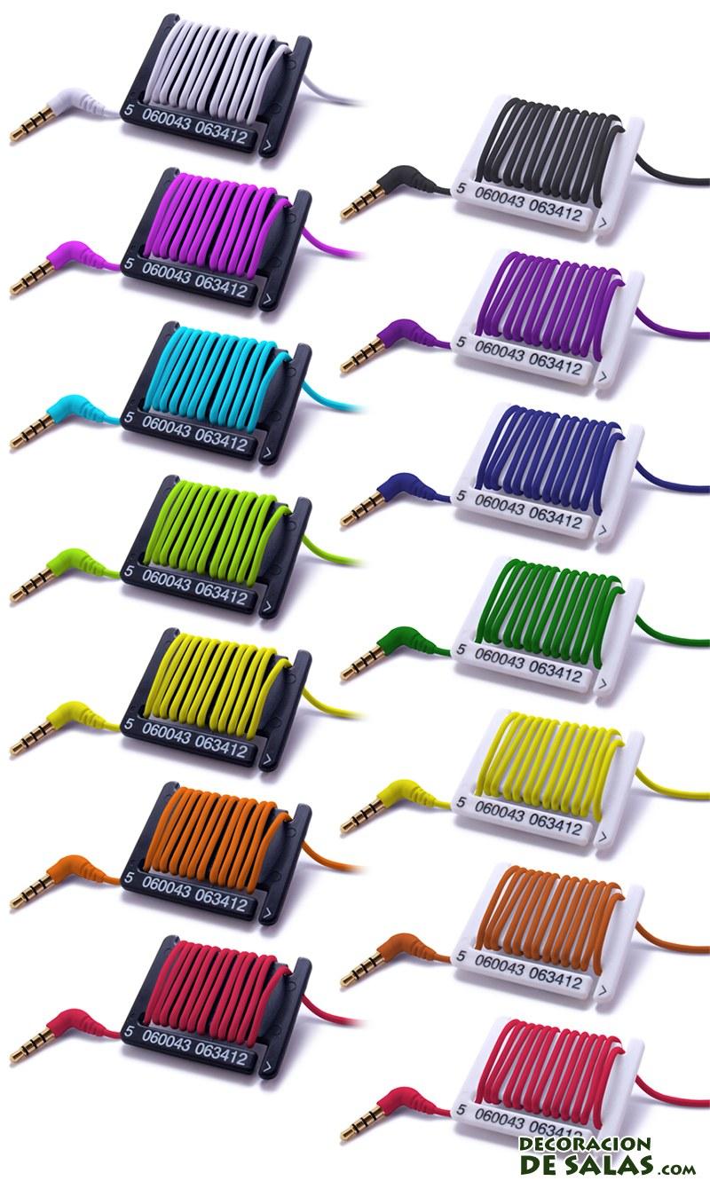 cables de colores para el barcode