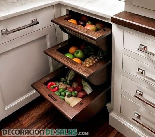 Aprovecha todos los rincones que nos ofrece la cocina