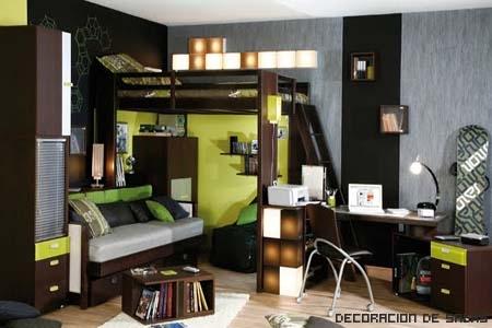 Literas Sofa Cama Debajo Stunning Litera Escritorio Y Baldas With