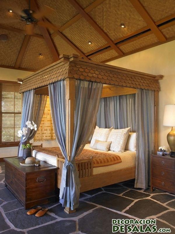 Habitaciones elegantes y camas con dosel - Cama dosel madera ...