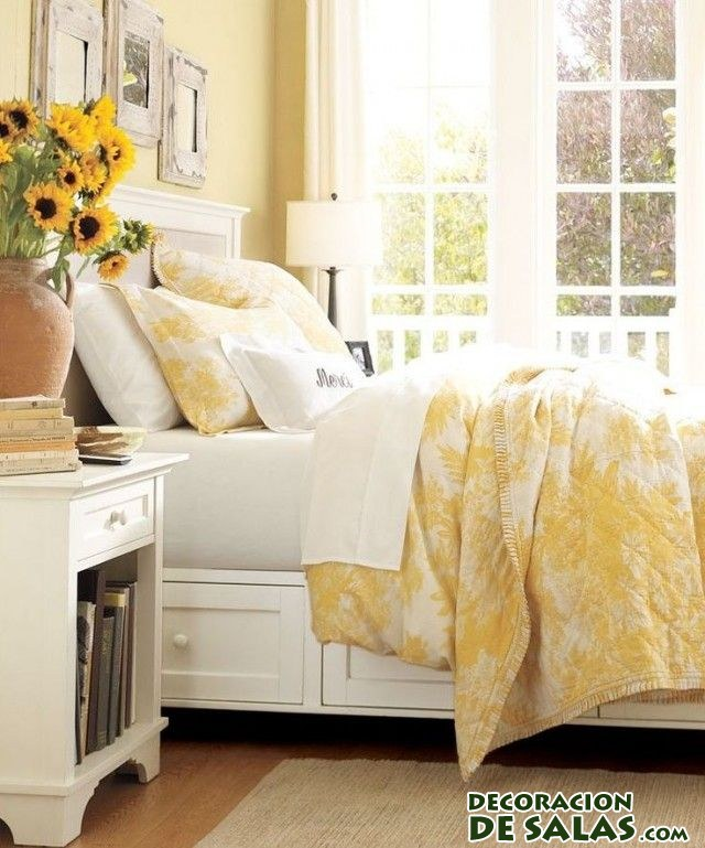 Yellow Green Bedroom Design Blinds For Bedroom Simple Bedroom Design Ideas For Girls Bedroom Colour With Black Furniture: Dormitorios En Color Amarillo, Una Buena Elección