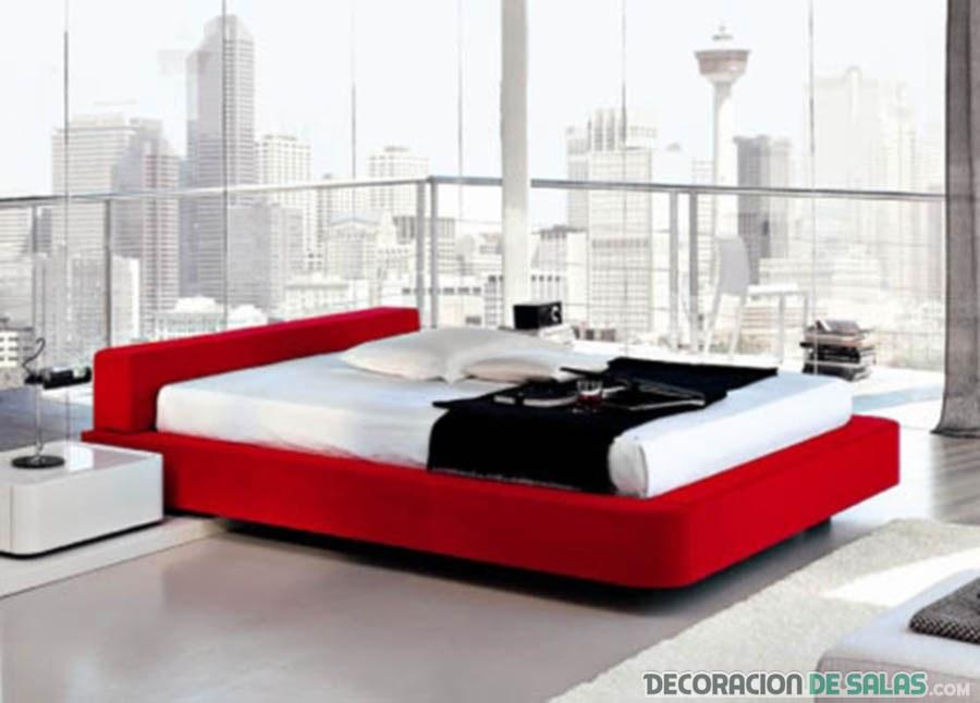 cama en color rojo